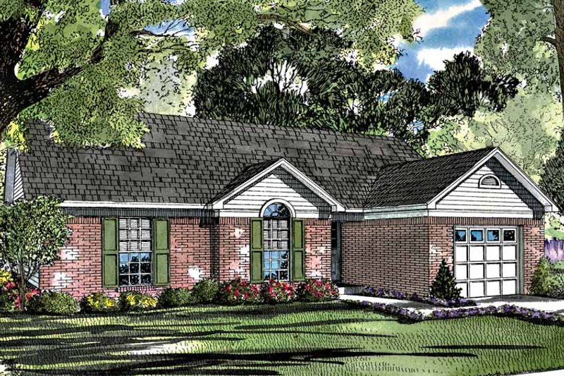 Ranch Exterior - Front Elevation Plan #17-2983 - Houseplans.com