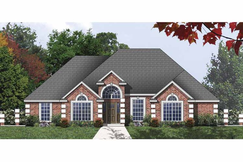 Traditional Exterior - Front Elevation Plan #40-505 - Houseplans.com