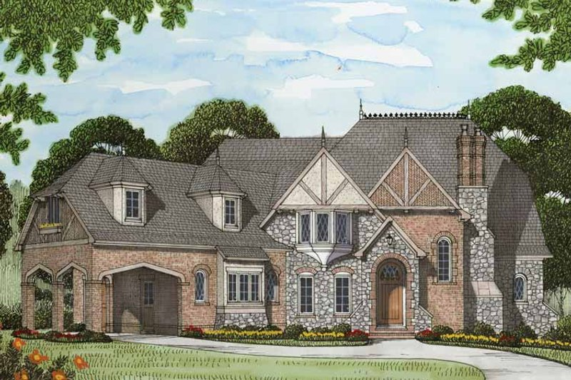 Tudor Exterior - Front Elevation Plan #413-902 - Houseplans.com