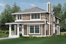 Craftsman Exterior - Rear Elevation Plan #132-235