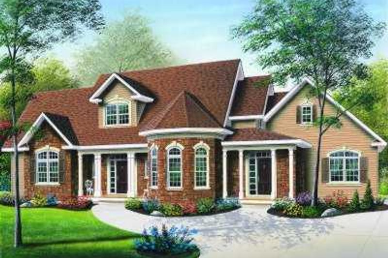 Dream House Plan - Traditional Exterior - Front Elevation Plan #23-330