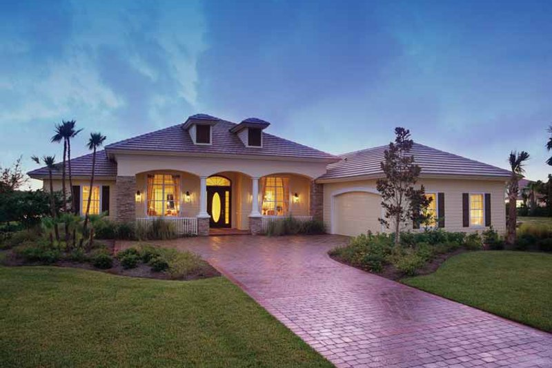Architectural House Design - Mediterranean Exterior - Front Elevation Plan #930-326