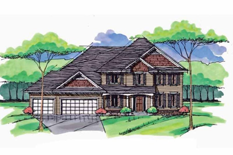 Traditional Exterior - Front Elevation Plan #51-1027 - Houseplans.com
