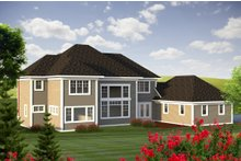 House Design - Traditional Exterior - Rear Elevation Plan #70-1184