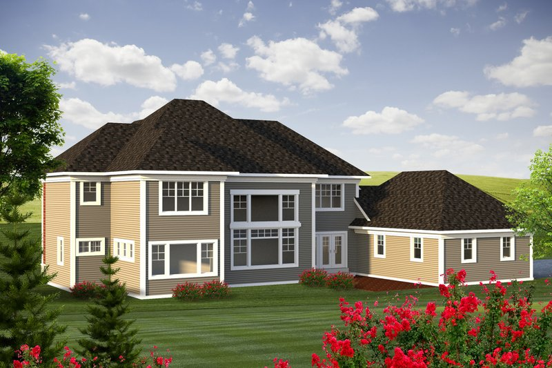 Traditional Exterior - Rear Elevation Plan #70-1184 - Houseplans.com