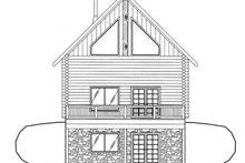 Log Exterior - Rear Elevation Plan #117-821