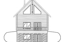 Architectural House Design - Log Exterior - Rear Elevation Plan #117-821