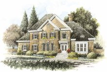 Colonial Exterior - Front Elevation Plan #429-417