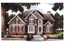 Dream House Plan - Colonial Exterior - Front Elevation Plan #927-184