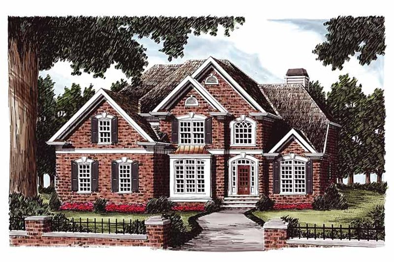 Colonial Exterior - Front Elevation Plan #927-184