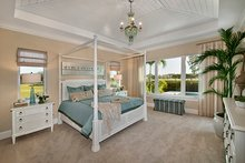 House Plan Design - Mediterranean Interior - Master Bedroom Plan #1017-156