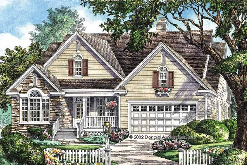 Country Exterior - Front Elevation Plan #929-658