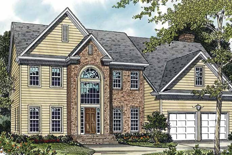 Country Exterior - Front Elevation Plan #453-492 - Houseplans.com