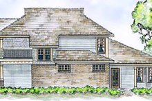Country Exterior - Rear Elevation Plan #410-3565