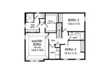 Traditional Floor Plan - Upper Floor Plan Plan #1010-186