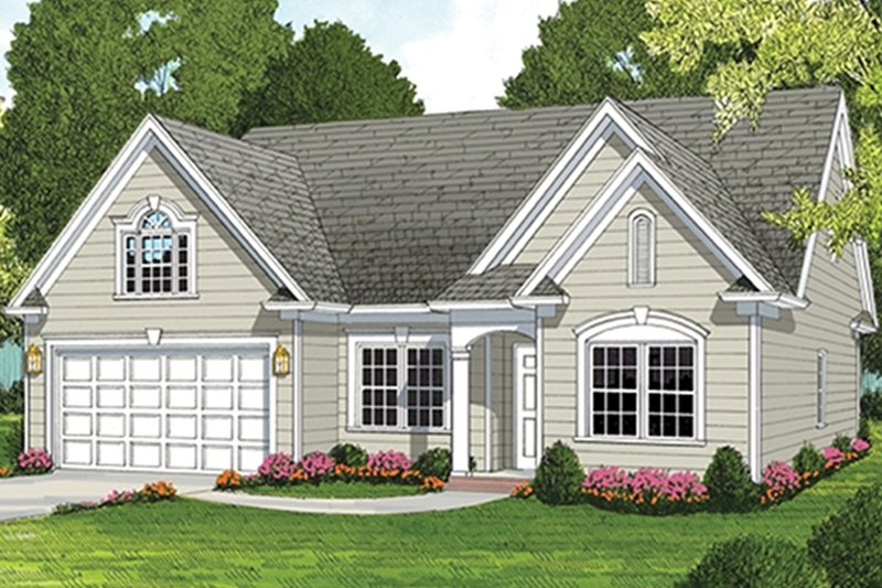 Architectural House Design - Ranch Exterior - Front Elevation Plan #453-630
