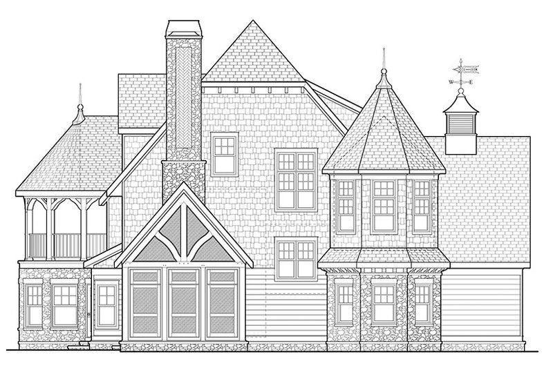 Craftsman Exterior - Other Elevation Plan #928-34 - Houseplans.com