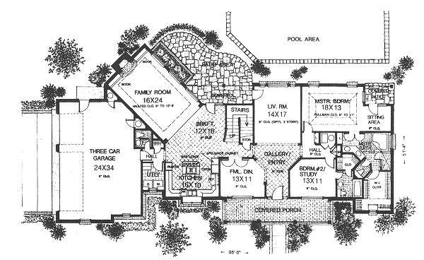 Farmhouse Floor Plan - Main Floor Plan #310-624