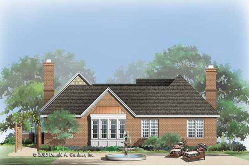 Country Exterior - Rear Elevation Plan #929-773 - Houseplans.com