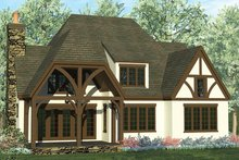 European Exterior - Rear Elevation Plan #453-637
