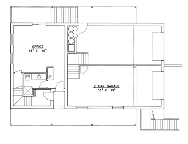 Contemporary Floor Plan - Lower Floor Plan Plan #117-839
