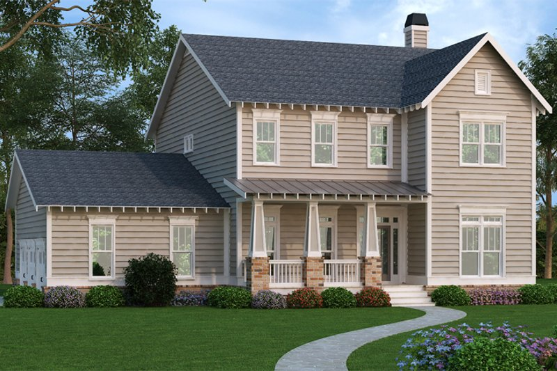 Dream House Plan - Craftsman Exterior - Front Elevation Plan #419-261