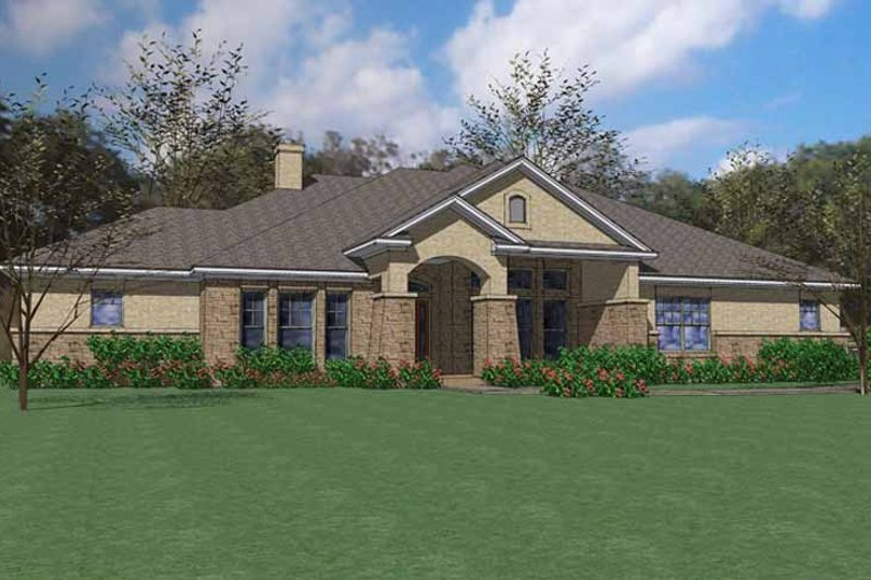Craftsman Exterior - Front Elevation Plan #120-203