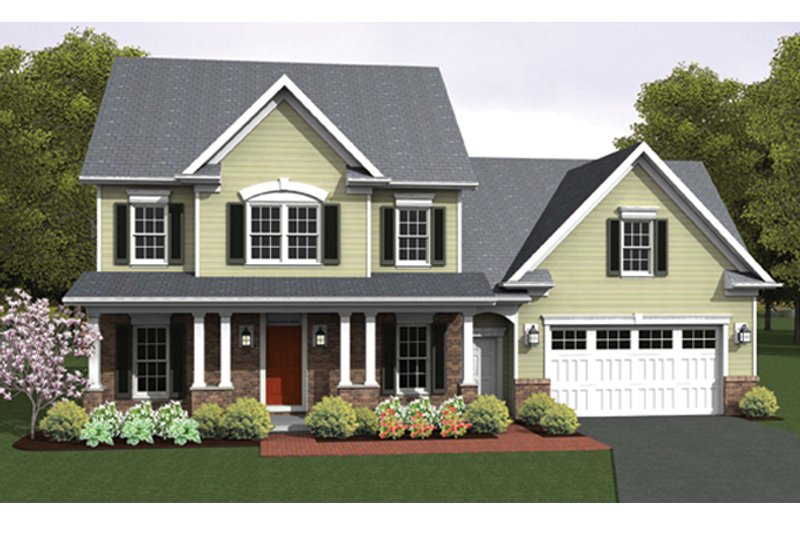 Colonial Exterior - Front Elevation Plan #1010-55 - Houseplans.com