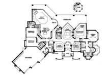 Mediterranean Floor Plan - Main Floor Plan Plan #1017-2