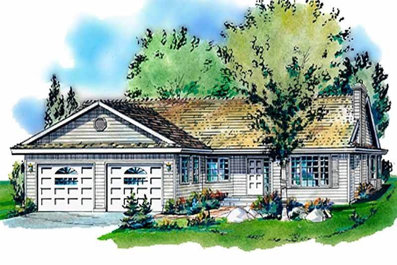 House Blueprint - Traditional Exterior - Front Elevation Plan #18-186