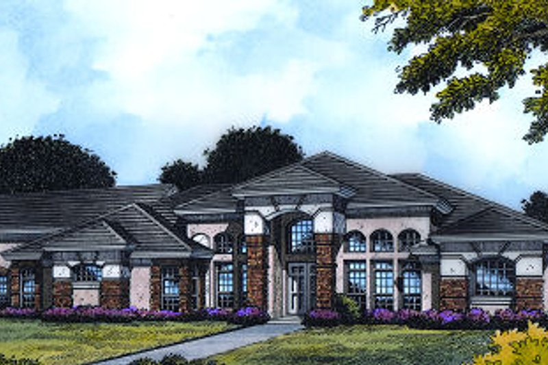 European Exterior - Front Elevation Plan #417-379