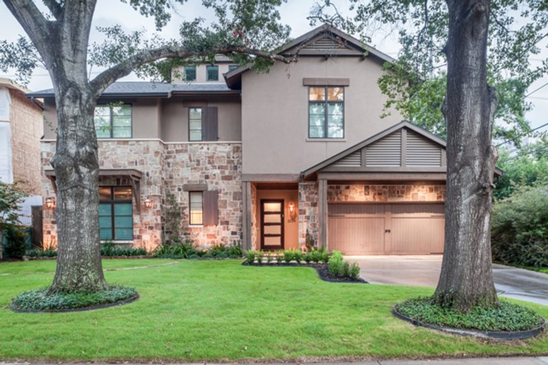 European Style House Plan - 5 Beds 5 Baths 5159 Sq/Ft Plan #449-22 Exterior - Front Elevation