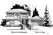 Contemporary Style House Plan - 3 Beds 4.5 Baths 2343 Sq/Ft Plan #942-55 Exterior - Front Elevation
