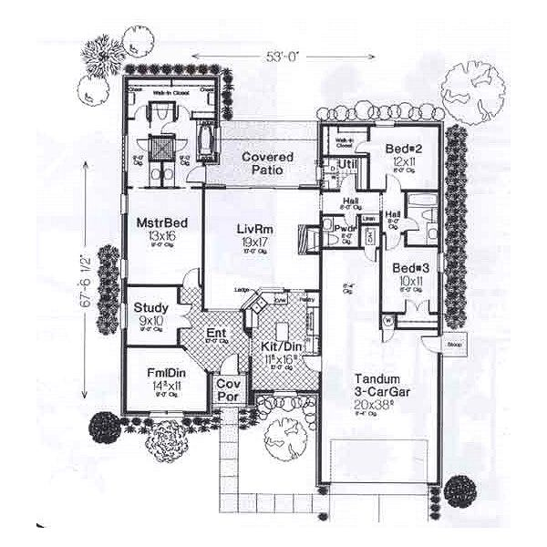European Floor Plan - Main Floor Plan #310-906