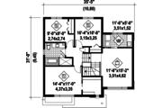 Modern Style House Plan - 3 Beds 1 Baths 1724 Sq/Ft Plan #25-4589 Floor Plan - Upper Floor Plan