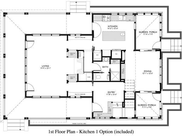 Country Floor Plan - Main Floor Plan Plan #917-13
