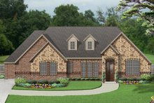 Dream House Plan - European Exterior - Front Elevation Plan #84-593