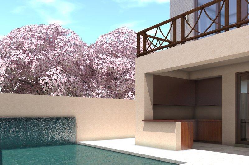 Modern Exterior - Covered Porch Plan #64-236 - Houseplans.com
