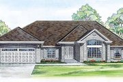 Traditional Style House Plan - 4 Beds 2.5 Baths 2547 Sq/Ft Plan #47-294 Exterior - Front Elevation