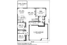 Ranch Floor Plan - Main Floor Plan Plan #70-1491
