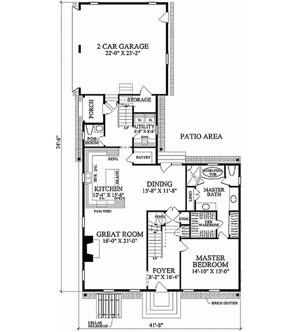 Colonial Floor Plan - Main Floor Plan Plan #137-201