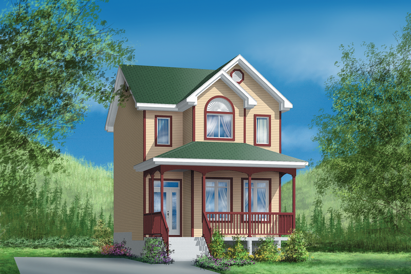 Farmhouse Style House Plan - 3 Beds 1.5 Baths 1208 Sq/Ft Plan #25-2063 Exterior - Front Elevation