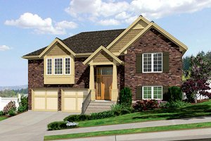 Craftsman Exterior - Front Elevation Plan #46-501