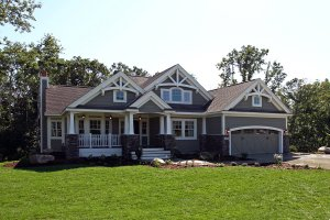 Craftsman Exterior - Front Elevation Plan #132-232