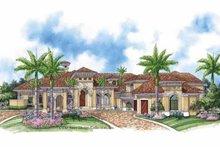 Home Plan - Mediterranean Exterior - Front Elevation Plan #930-414