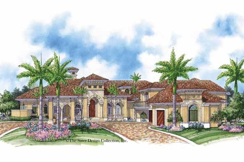 Mediterranean Exterior - Front Elevation Plan #930-414