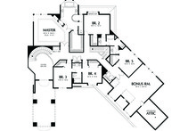 Upper level floor plan - 5700 square foot Traditional home