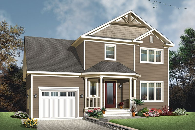 Architectural House Design - Traditional Exterior - Front Elevation Plan #23-2624