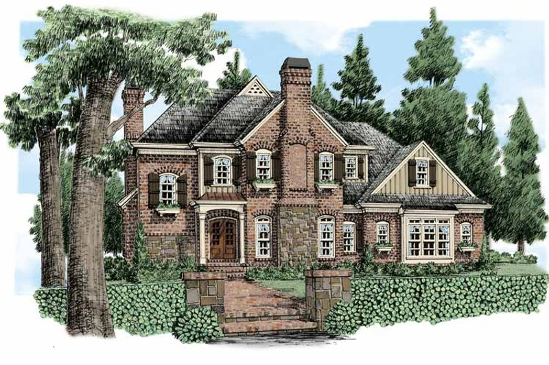 Country Exterior - Front Elevation Plan #927-479