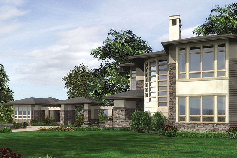 Prairie Exterior - Other Elevation Plan #132-562 - Houseplans.com